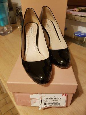 Miu Miu Chaussure à talons carrés noir