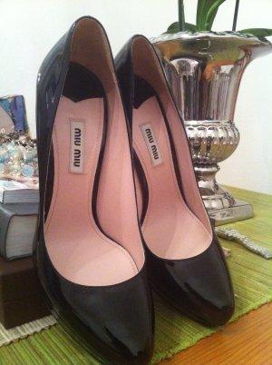 Miu Miu Schuhe lack schwarz