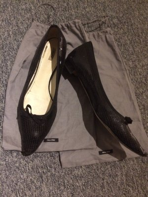 MIU MIU Schwarze Pailletten Schuhe