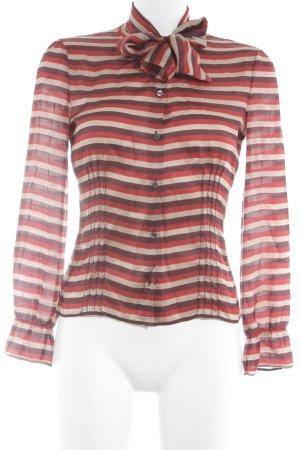 Miu Miu Zijden blouse gestreept patroon elegant