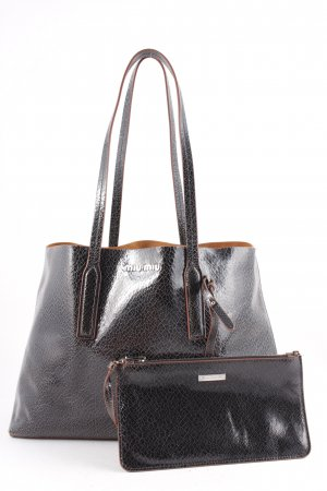 "Miu Miu Borsa shopper ""Shopping Bag Craquele Nero"""