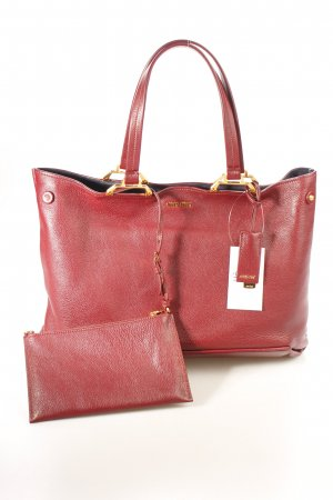 "Miu Miu Shopper ""Shopping Bag Madras Amaranto/Blue"" brombeerrot"