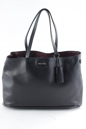 "Miu Miu Shopper ""Shopping Soft Calf Nero/Granato"""