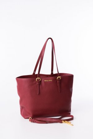 MIU MIU - Shopper Vitello Phenix Rot
