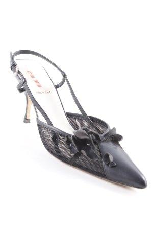 Miu Miu Slingback-Pumps schwarz Elegant
