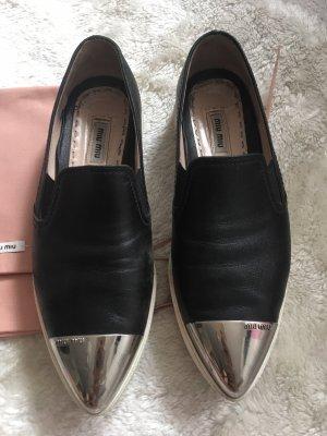 Miu Miu Slipper Sneaker schwarz Größe 36,5