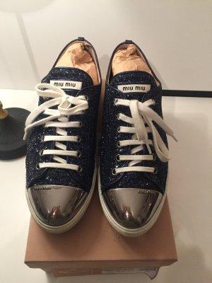 Miu Miu Sneaker argento-blu scuro