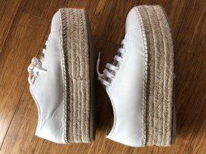 Miu Miu Sneaker Espandrilles Sohle Plateau weiss Gr. 37