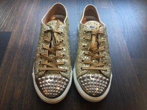 Miu Miu Sneaker, gold glitzernd, 39