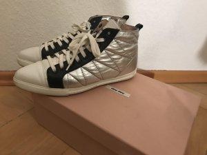 Miu Miu Sneaker silber/schwarz