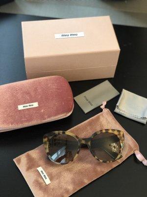 MIU MIU Sonnenbrille Leopard mit Steinchen