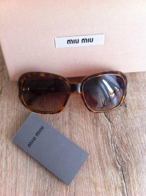 Miu Miu Sonnenbrille, Original, in cognac/braun