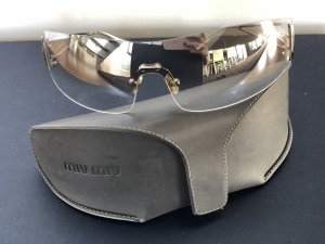 Miu Miu Ovale zonnebril lichtgrijs-zilver Metaal