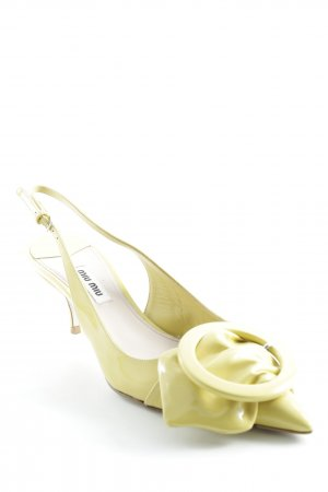 Miu Miu Spitz-Pumps gelb klassischer Stil