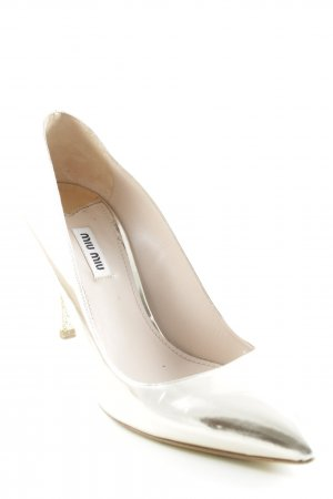 Miu Miu Spitz-Pumps goldfarben Party-Look