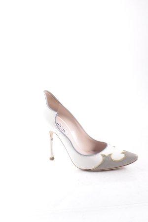 Miu Miu Spitz-Pumps graubraun-weiß extravaganter Stil
