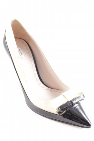 Miu Miu Pointed Toe Pumps black-pale yellow elegant