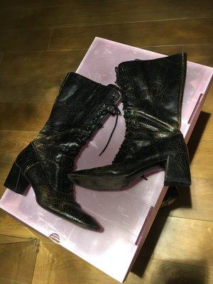 Miu Miu Stiefel cracked leather in gr. 38,5
