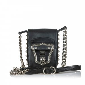 Miu Miu Studded Leather Crossbody Bag