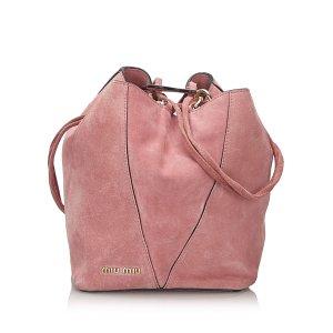 Miu Miu Borsa a tracolla rosa pallido Scamosciato
