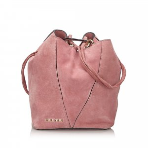Miu Miu Shoulder Bag pink suede