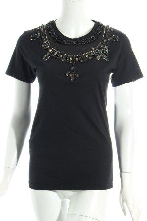 Miu Miu T-Shirt schwarz extravaganter Stil