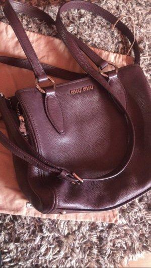 Miu Miu Carry Bag brown violet