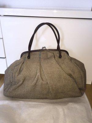 Miu Miu Tasche aus Wolle und Leder im Vintage Look