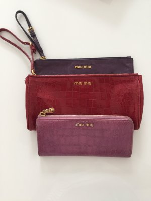 Miu Miu Tasche Clutch rot Lackleder lipstick red