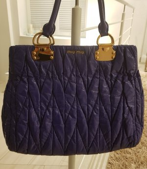 Miu Miu Carry Bag blue violet