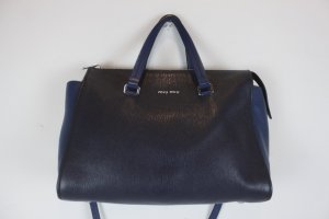 Miu Miu Bowling Bag blue-black leather