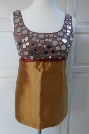 MIU MIU Top, mit Spiegelpailetten,  Babydoll, 60er Jahre Stil, Super süß !!