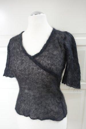 MIU MIU Top, Stricktop, luftig gestrickt, in schwarz, aus Mohair !! ital. 44 oder EUR 40
