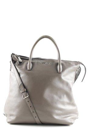 Miu Miu Gekruiste tas lichtgrijs zakelijke stijl