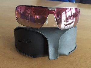 Miu Miu verspiegelte Sonnenbrille rosa
