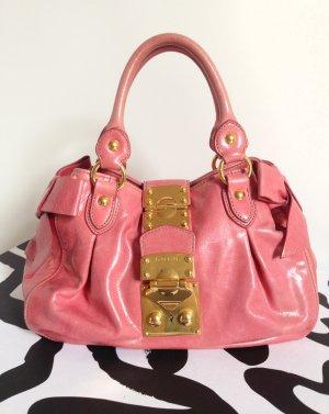 MIU MIU Vitello Bow Bag Bowling Handtasche rosé – Vintage Design