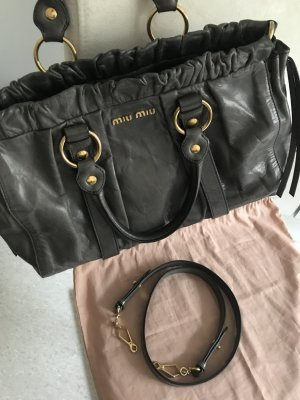 MIU MIU Vitello Lux Bag Bauletto mit Originalstaubbeutel
