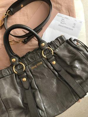 MIU MIU Vitello Lux Bauletto Bag mit Original-Rechnung & Staubbeutel, NP 950€