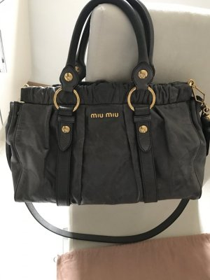 MIU MIU Vitello Lux Bauletto Bag mit Original-Staubbeutel
