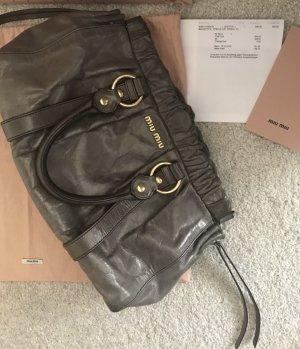 MIU MIU Vitello Lux Bauletto Bag mit Original Staubbeutel & Rechnung, NP 950€