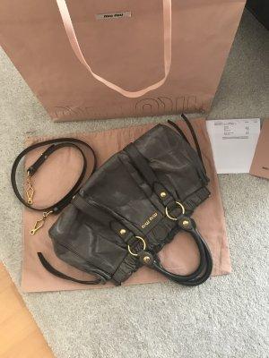 MIU MIU Vitello Lux Bauletto Bag mit Rechnung& Original Staubbeutel, NP 950€