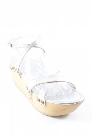 Miu Miu Wedge Sandals silver-colored extravagant style
