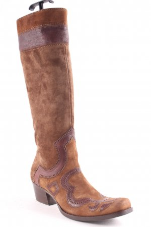 Miu Miu Western Boots light brown-brown casual look