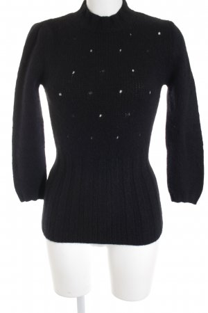 Miu Miu Wollpullover schwarz Street-Fashion-Look