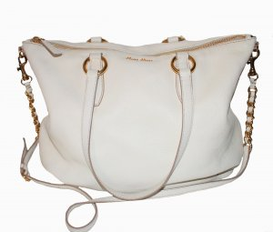 Miu Miu Pouch Bag cream leather