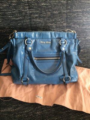 MiuMiu Vitello Lux Oceano Tasche blau