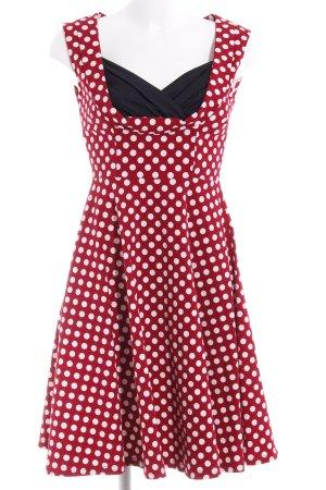 Miusol A-Linien Kleid Allover-Druck Rockabilly-Look