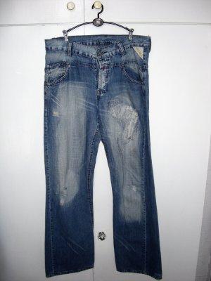 Boyfriend Jeans steel blue cotton
