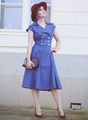 Miyas Jeanskleid stahlblau Retro-Look
