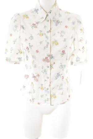 Miyas Kurzarm-Bluse Blumenmuster Ethno-Look
